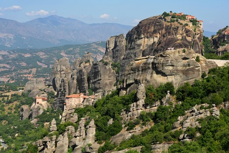 beautiful Meteora rock monastery in Greece  Stock Photo - 13533309