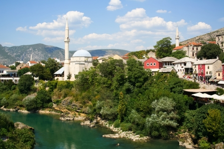 Old bridge in Mostar, Bosnia and Herzegovina photo