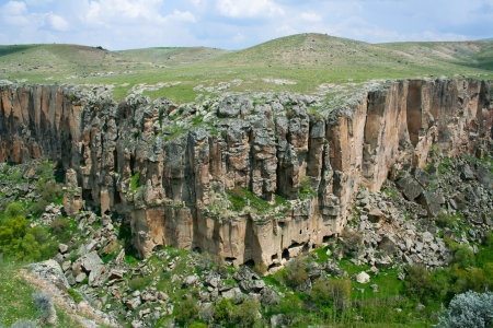 Beautiful Ihlara valley in Cappadocia, Turkey photo