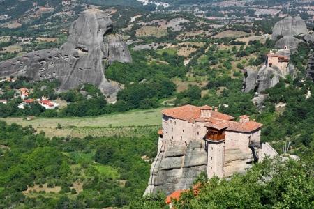 beautiful Meteora rock monastery in Greece Stock Photo - 13770966
