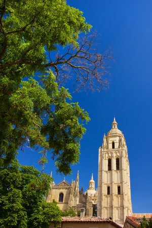 View of catholic cathedral in the center of Segovia Stock Photo - 14356069
