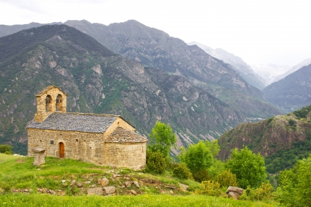 romanesque church of Sant Quirc de Durro in Vall de Boi, Catalonia