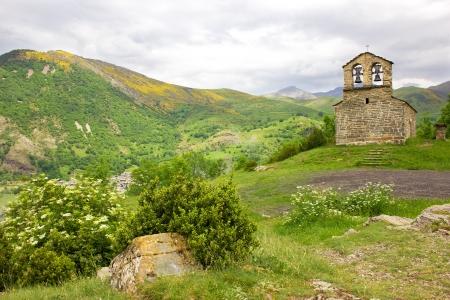 Romaanse kerk van Sant QuIRC de Durro in Vall de Boi, Catalonië