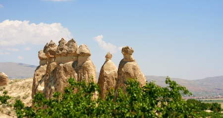volcanic landscape: valley of love in Goreme, Cappadocia