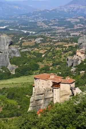 Meteora rock monastery in Greece photo