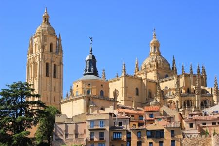 Bekijk de katholieke kathedraal in het centrum van Segovia