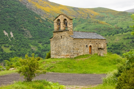 romanesque church of Sant Quirc de Durro in Vall de Boi photo