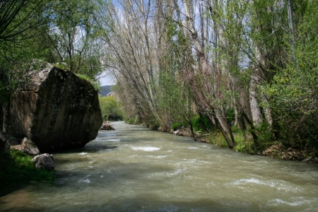 River of Melendiz in Ihlara Valley, Cappadocia photo
