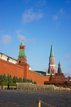 Moscow Kremlin towers at the morning light Stock Photo - 15131829