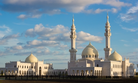 New beautiful mosque in Bolghar, Tatarstan photo