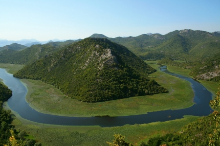 montenegro: Amazing view of Rijeka Crnojevica in Montenegro