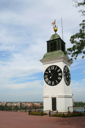 clock tower on the Petrovaradin Fortress in Novi Sad photo