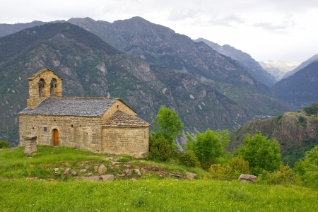 romanesque church of Sant Quirc de Durro in Vall de Boi photo