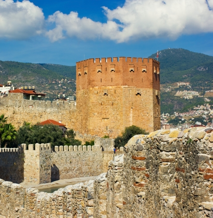 Kizil Kule  Red Tower  - main tourist attraction in Alanya  photo