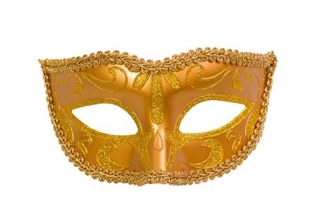 Carnaval-masker op witte achtergrond wordt geïsoleerd die