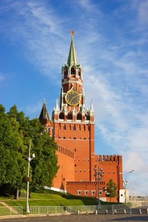 Moscow Kremlin tower at the morning light photo