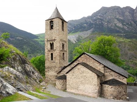 sant: Romanesque church of Sant Joan de Boi in Vall de Boi, Spain Stock Photo