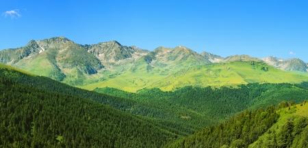 ピレネー、アンドラで美しい山の風景 写真素材