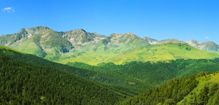 tourism in andorra: Beautiful mountain landscape in Pyrenees, Andorra