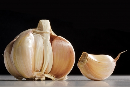 Garlic isolated on white background photo