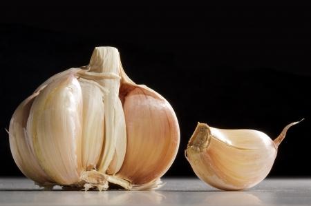 aftertaste: Garlic isolated on white background