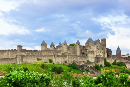 Mooi uitzicht van de oude stad van Carcassone in Frankrijk