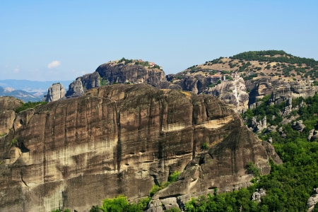 panoramatic: Amazing view of Meteora Monasteries, Greece
