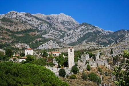 montenegro: Ruins of ancient town of Bar in Montenegro Stock Photo
