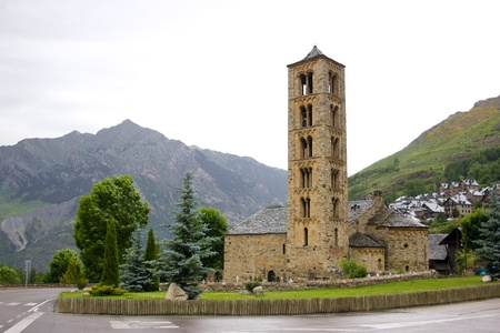 sant: Romanesque church of Sant Climent de Taull in Vall de Boi, Spain Stock Photo