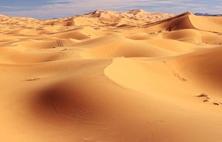Panoramic view of Sahara desert in Morocco photo