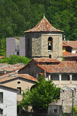 sant joan de les abadesses: View of small town in Catalonia - Sant Joan De Les Abadesses