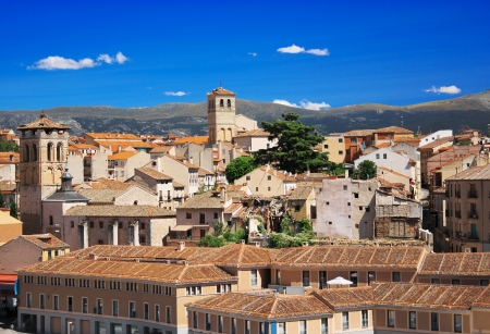Historic center of Segovia, Spain photo