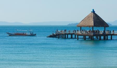 Serene view of port in Sihanoukville Stock Photo
