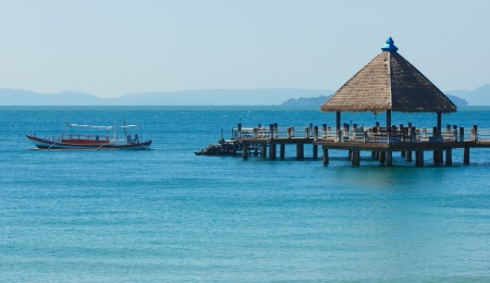 Serene view of port in Sihanoukville Banque d'images