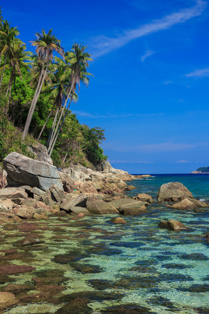 terengganu: Serene view on the seaside of Perhentian Kecil Island, Malaysia Stock Photo