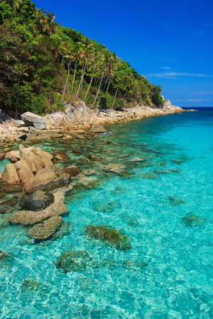 Serene view on the seaside of Perhentian Kecil Island photo