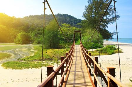 Suspension bridge in the National Park Penang