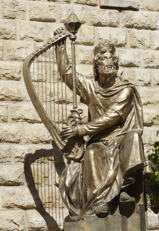 Statue of King David in Jerusalem