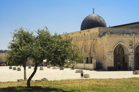 al aqsa: Al-Aqsa Mosque - third holiest place in Islam, Jerusalem Stock Photo