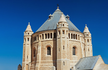 View of Church of Dormition on Mount Zion, Jerusalem photo
