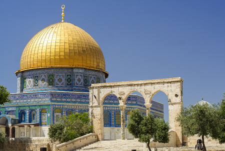 al aqsa: Dome of the rock (Womens mosque) - holy place for Muslims, in the center of Jerusalem