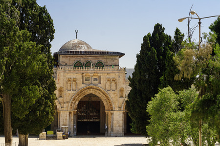 Al-Aqsa Mosque - third holiest place in Islam, Jerusalem Stock Photo
