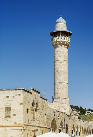 al aqsa: Old mosque in the center of Jerusalem Stock Photo