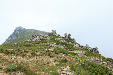 Amazing view of landscape in national park Uludag photo
