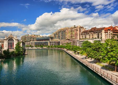 View of the center of Geneva, Switzerland photo
