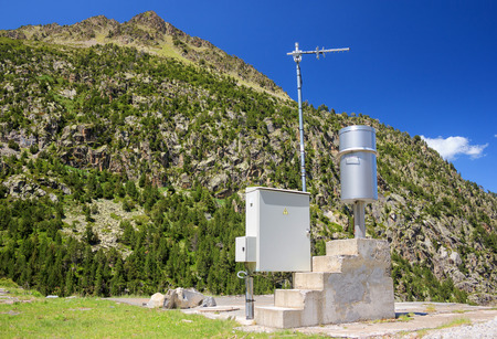 meteo: Meteo station in the mountains, France Editorial