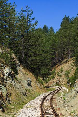 narrow gauge: Sharganska Osmica - old narrow gauge railway in Mokra Gora, Serbia