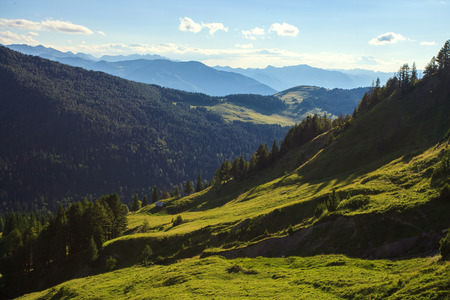 landscape: Peaceful view of Mountains in Prokletije national park, Montenegro Stock Photo