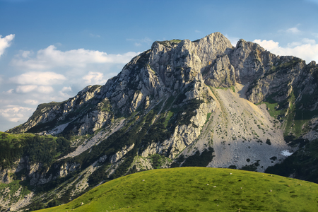 Amazing rocky mountain in Durmitor National Park, Montenegro Stock Photo