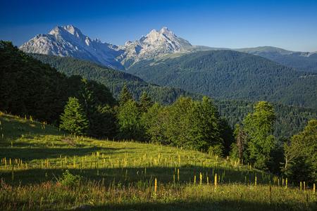 serene landscape: Serene View of Landscape in Komovi Mountains, Montenegro